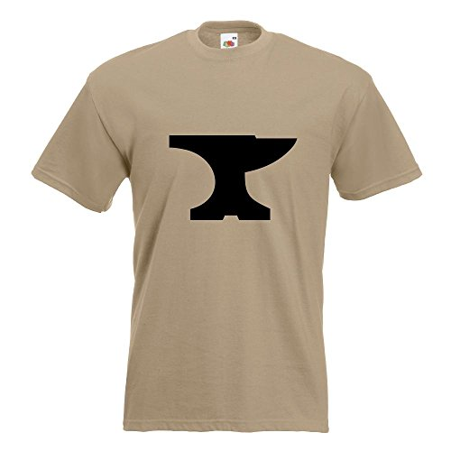 KIWISTAR - Amboss T-Shirt in 15 verschiedenen Farben - Herren Funshirt bedruckt Design Sprüche Spruch Motive Oberteil Baumwolle Print Größe S M L XL XXL (Print T-shirt Amboss)