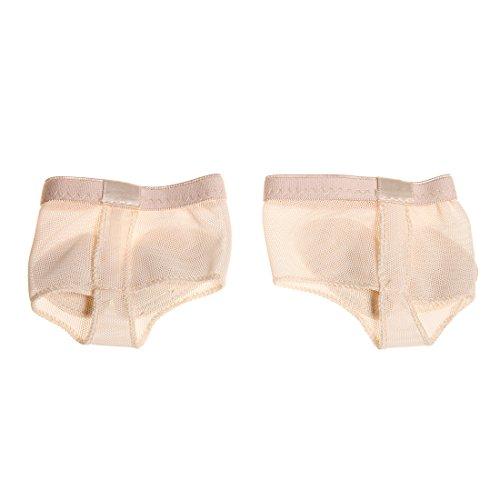 DoGeek Foot Thongs Ballenschutz für Ballett Tanz Footundeez für Mädchen Damen (Nude, Schuhe 4 Größe)