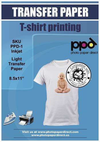 PPD A4 a getto d'inchiostro trasferimento per maglietta di colore chiaro- 100 Fogli