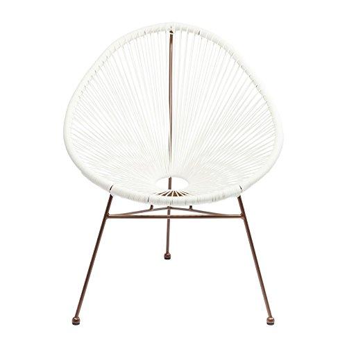 Fauteuil de jardin Spaghetti blanc et cuivre Kare Design