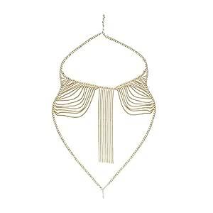 FemNmas Gold Metal Body Chain for Women