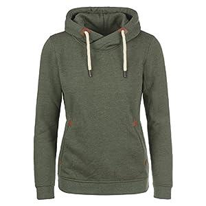 DESIRES VickyHood Damen Hoodie Kapuzenpullover Pullover Mit Kapuze Cross-Over-Kragen Und Fleece-Innenseite