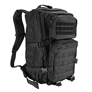 ProCase Military Tactical Backpack, 40L Large Capacity 3 Day Army Assault Pack Bag Go Bag Rucksacks for Hunting, Trekking and Camping and Other Outdoor Activities