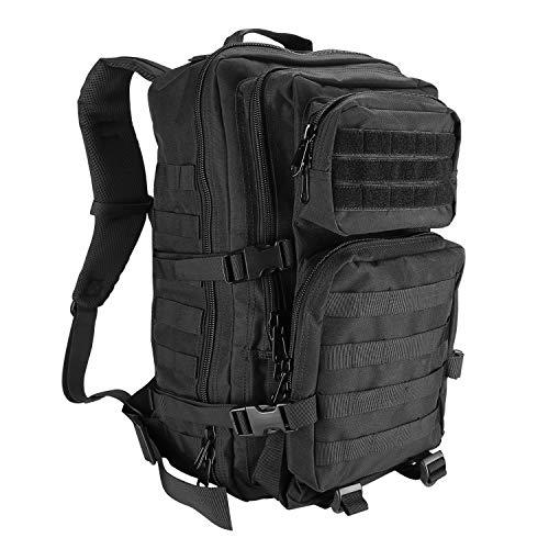 ProCase Militär Taktische Rucksack, Große Kapazität 3 Tage Armee Assault Pack Bag Go Bag Rucksack für Wandern Jagd, Trekking und Camping und andere Outdoor Aktivitäten -Schwarz