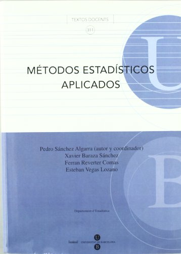 Métodos estadísticos aplicados por Pedro Sánchez Algarra