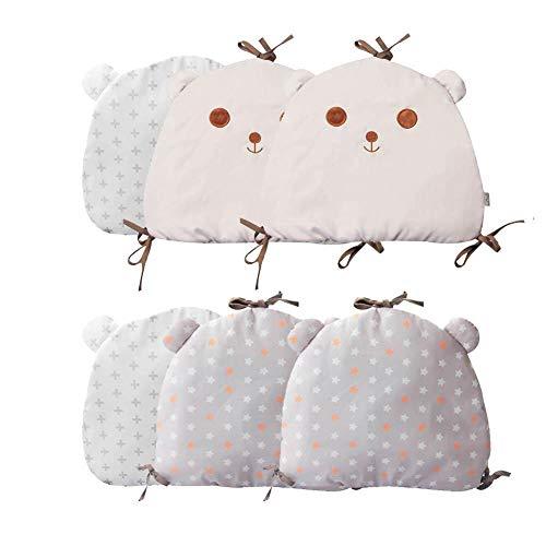 Wiege Kissen (HELLOO HOME Babybett Stoßstange Junior Bett Schlaf Stoßstange Krippe Kissen Baby Geschenk Kissen Kissen Wiege Dekor Kinderbett Sicherheitsbarriere)