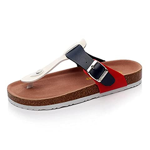 LIXIONG Tragbar Männer und Frauen flache Sandalen Stiftung Weibliche Sommer weichen Holz rutschfeste Pantoffeln Paar Strand Schuhe Modeschuhe ( größe : 43 )