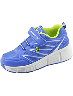 Wheelys Zapatillas con ruedas automáticas Para Niños - Transpirables - Mod. 101 - Azul - Varias Tallas