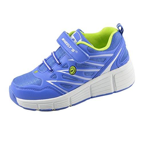 Zapatillas con ruedas automáticas para niños - Transpirables - Mod. 101 - Azul - Talla 34