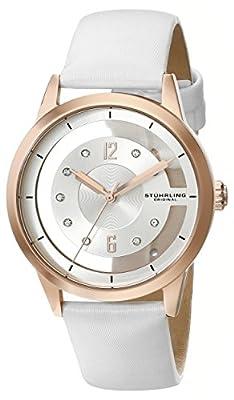Stuhrling Original Winchester 946L 946L.02 - Reloj de pulsera Cuarzo Mujer correa deCuero Blanco de Stuhrling Original