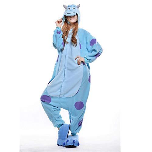 Erwachsene Kostüm Für Blau Monster - DUKUNKUN Erwachsene Pyjamas Blau Monster Pyjamas Kostüm Blau Cosplay Für Tier Nachtwäsche Cartoon Halloween Festival/Urlaub/Weihnachten,M