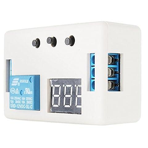 Generic LED automatisation Delay Minuteur commutateur de commande module de relais 5V/6V/12V/24V avec étui (24V)