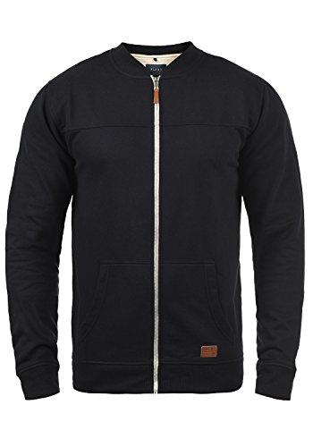 Blend Arco Herren Sweatjacke Collegejacke Cardigan Jacke Mit Stehkragen, Größe:M, Farbe:Black (70155)