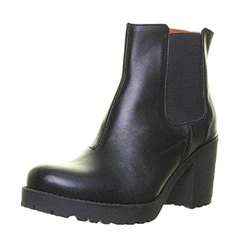 Justin Reece 3100, Chaussures de Ville à Lacets Pour Femme Noir