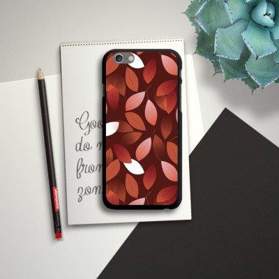 Apple iPhone 6 Housse Étui Silicone Coque Protection Automne Feuilles Bronze CasDur noir