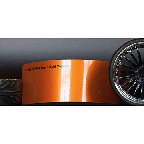 3M 1080 Gloss Liquid Copper | G344 | Vinyl CAR WRAP Film (Sample 2.5in x 4in) (Chrome Wrap Vinyl)
