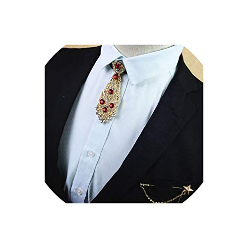 Men'S Male Man Diamond Metal Tie Groom Wedding Dress Collar Exclusive Tie Star Brooch Set,1 Sky Blue Mens Tie