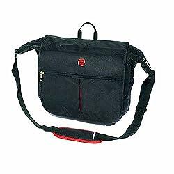 Wenger WA6274 1904007 Laptop Messenger, Umhängetasche schwarz Einzelpackung
