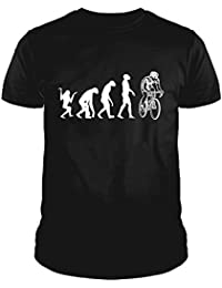 IDEAMAGLIETTA EV0009U Maglietta Ciclismo Ciclista Evoluzione Divertente Idea Regalo t-Shirt