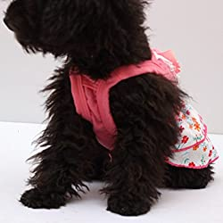 Bocideal 1PC Pet Dog Lace Pearl Flower Skirt Crystal Bowknot Princess Clothes(XS,S,M,XL,XXL)