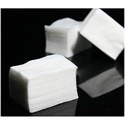 SMARTLADY 1000pc Discos de algodón Algodón Celuloso Limpiador Uñas Blanco Manicura Tejidos