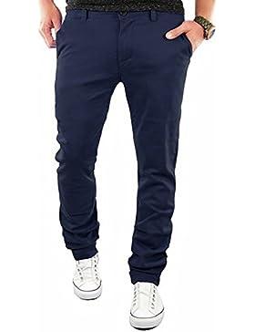 swall owuk Hombres Slim Fit hacha äufige recto Pantalones azul marine xx-large