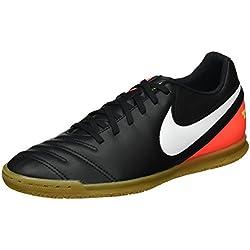 Nike 819234-018, Botas de Fútbol para Hombre, Negro (Black / White-Hyper Orange-Volt), 44 EU