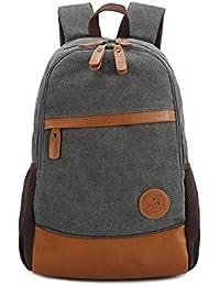 Preisvergleich für Fieans Vintage Rucksäcke Herren Damen Vintage Canvas Rucksack Retro Schulrucksack mit Der Großen Kapazität