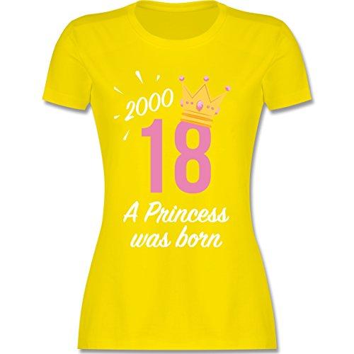 Geburtstag - 18 Geburtstag Mädchen Princess - XXL - Lemon Gelb - L191 - Damen T-Shirt Rundhals
