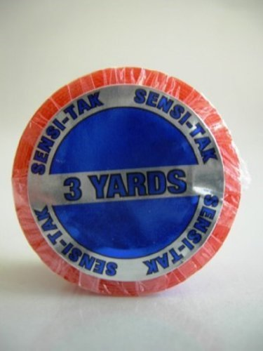Red 1 x 3 Yard Roll Toupee Tape by Walker Tape -