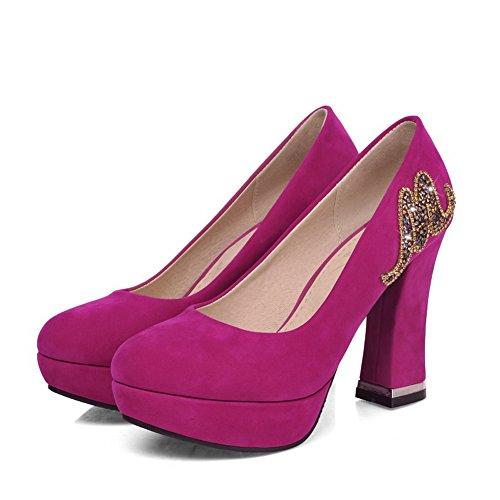 Balamasa D-ring Para Mujer Con Tacones Altos, Satén, Rosered Pumps-shoes