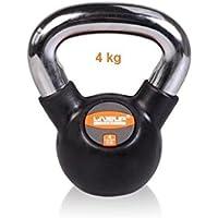 LiveUP Sports - Kettlebell 4kg Hierro Goma Pesos Manija Cromo Fitness Crossfit Training