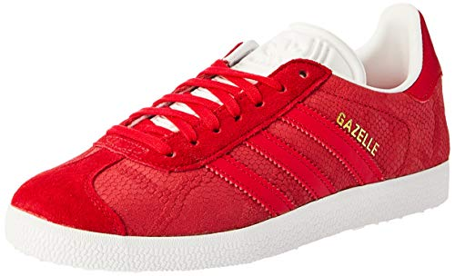 adidas Damen Gazelle Fitnessschuhe, Rot Rojfue/Ftwbla 0, 40 2/3 EU