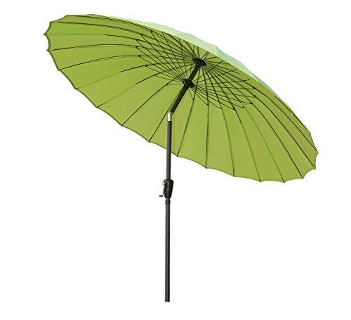Angel Living Ø 250cm Sonnenschirm, Rund Shanghai Marktschirm,Terrassenschirm mit Kurbel für Garten,Terrassen, Höfe,Schwimmbäder,mit UV-Schutz 50+ Apfelgrün
