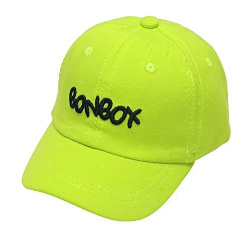 CCIKun Unisex Bindemütze Babymütze Jungen Mädchen Mütze Sonnenhut Baseball Cap Kinder Kappe Buchstabenmuster 1-4 Jahre(Grün,Einheitsgröße)