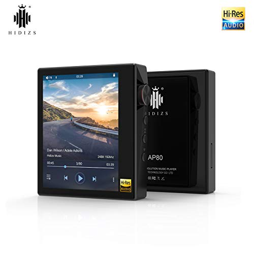 HIDIZS AP80 Ultraportable HiFi-Musik-Player Bluetooth-MP3-Player Hochauflösender Audio-Player (Schwarz)