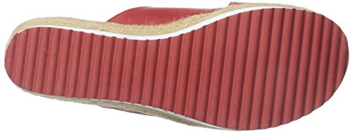 Lauren Ralph Lauren Reno Cuir Sandales Compensés red