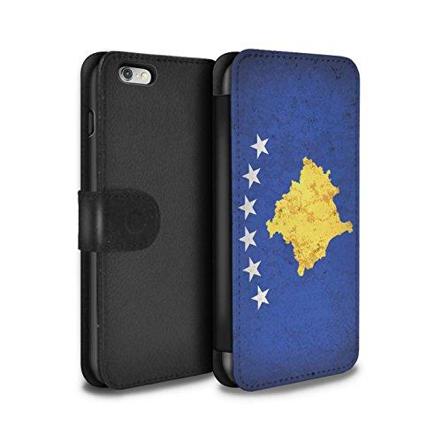 STUFF4 PU-Leder Hülle/Case/Tasche/Cover für Apple iPhone 7 / Mazedonien/Mazedonisch Muster / Europa Flagge Kollektion Kosovo/Kosovan