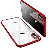 Enflamo Crystal Clear Case Soft Back Cover Case with Electroplated Frame Bumper Ultra