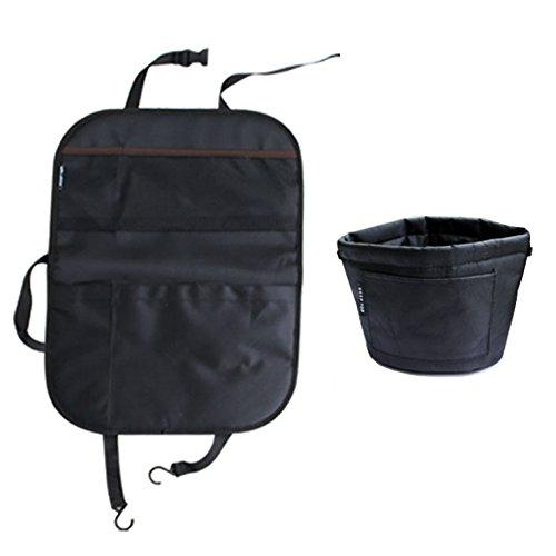 Preisvergleich Produktbild Kick Matte und Auto Garbage können, orgmemory Rücksitz Organizer mit Car Trash Can, Garbage Bag