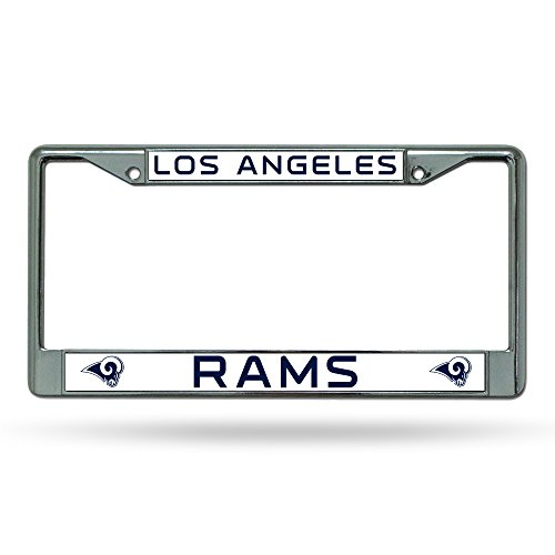 NFL Los Angeles Rams Standard Chrome Kennzeichenrahmen Standard Chrome Kennzeichenrahmen blau 0,5