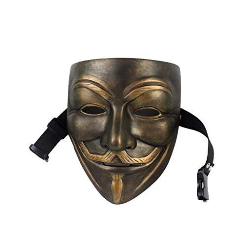 WYDM Cara Exquisita de la máscara del Buitre de la máscara de la máscara Exquisita del Alto-Grado (Color : Brass)