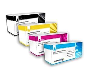 Inksplus Lot de toners laser F & # x178; R Xerox Phaser 6600V, DN, 6600V, n, WorkCentre 6605dn, 6605N–6600b–6600C–6600m–6600y de toner Center 24