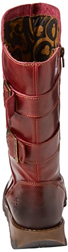 Fly London Sack785fly, Stivali da Motociclista Donna Rosso (Red 004)