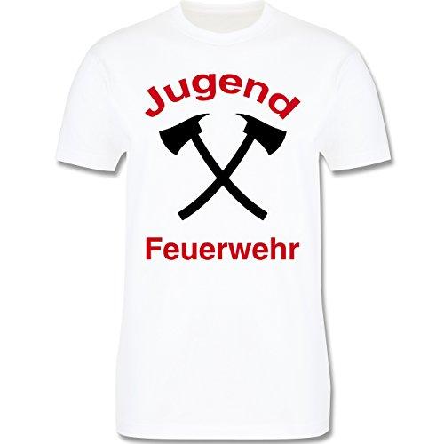 Feuerwehr - Jugend Feuerwehr - Herren Premium T-Shirt Weiß