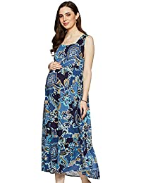 Momstory Rayon Pleated Dress