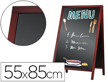 Pizarra negra Liderpapel caballete doble cara de madera 55x85 cm