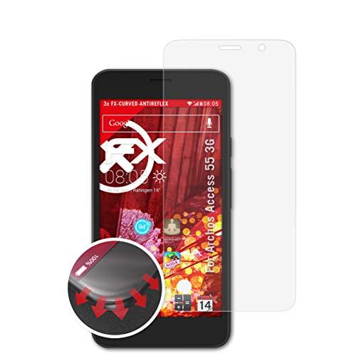 atFolix Schutzfolie passend für Archos Access 55 3G Folie, entspiegelnde & Flexible FX Bildschirmschutzfolie (3X)