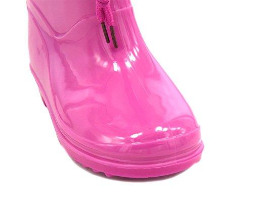 Bottes de pluie rose fille disney frozen bottine caoutchouc enfant la reine des neiges Rose