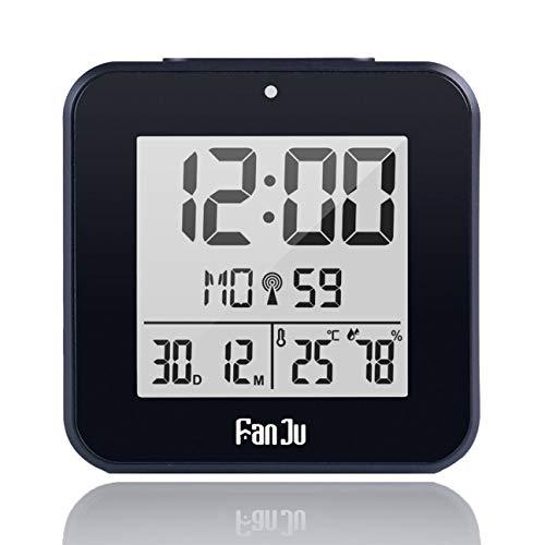 Réveil électronique Double réveil Température et humidité Compteur Fonction Snooze Multicolore En option Noir
